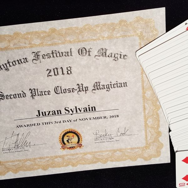 Humaneco - Magician Sylvain Juzan is awarded 2nd Prize at the Daytona Beach Festival of Magic (FL)